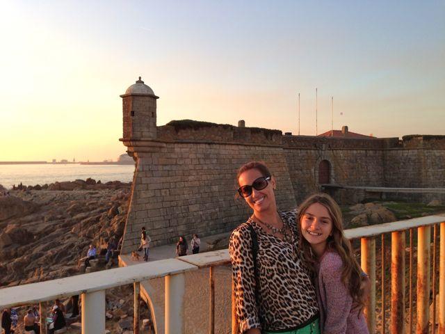 Pôr do Sol na Cidade do Porto às margens da Ribeira