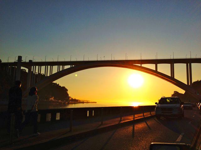 Pôr do Sol às margens da Ribeira, Cidade do Porto