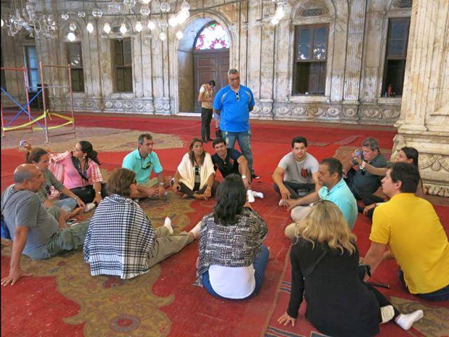 Aula Magna com Hossam Al Fangary na Mesquita de Mohamed Ali.