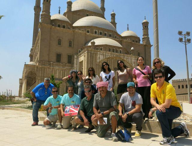 Essa imponente mesquita islâmica em estilo Otomano foi construída pelo Imperador Mohamed Ali no século XIX.