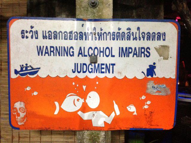 Se beber, não mergulhe!
