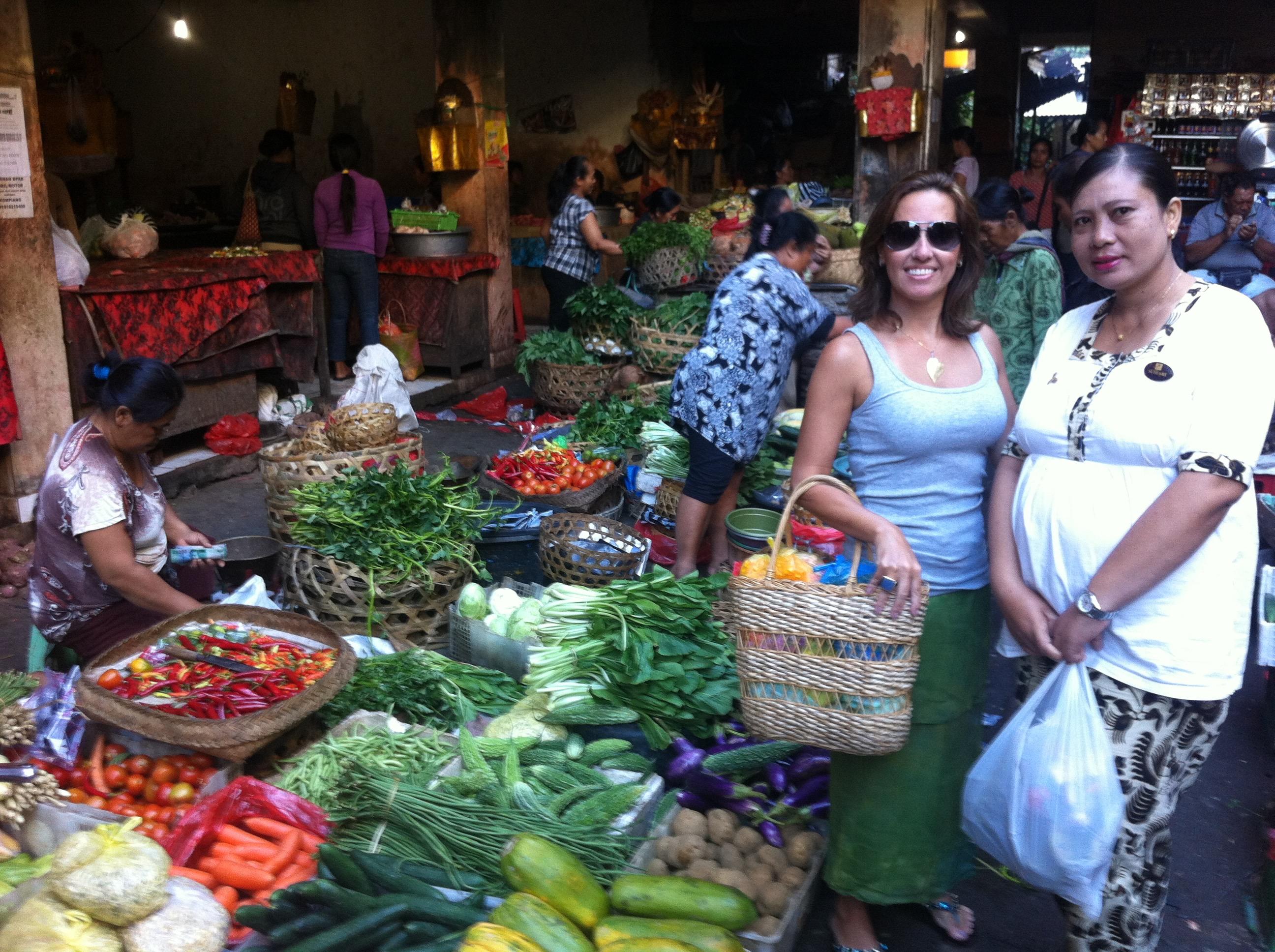 mercado local em Ubud