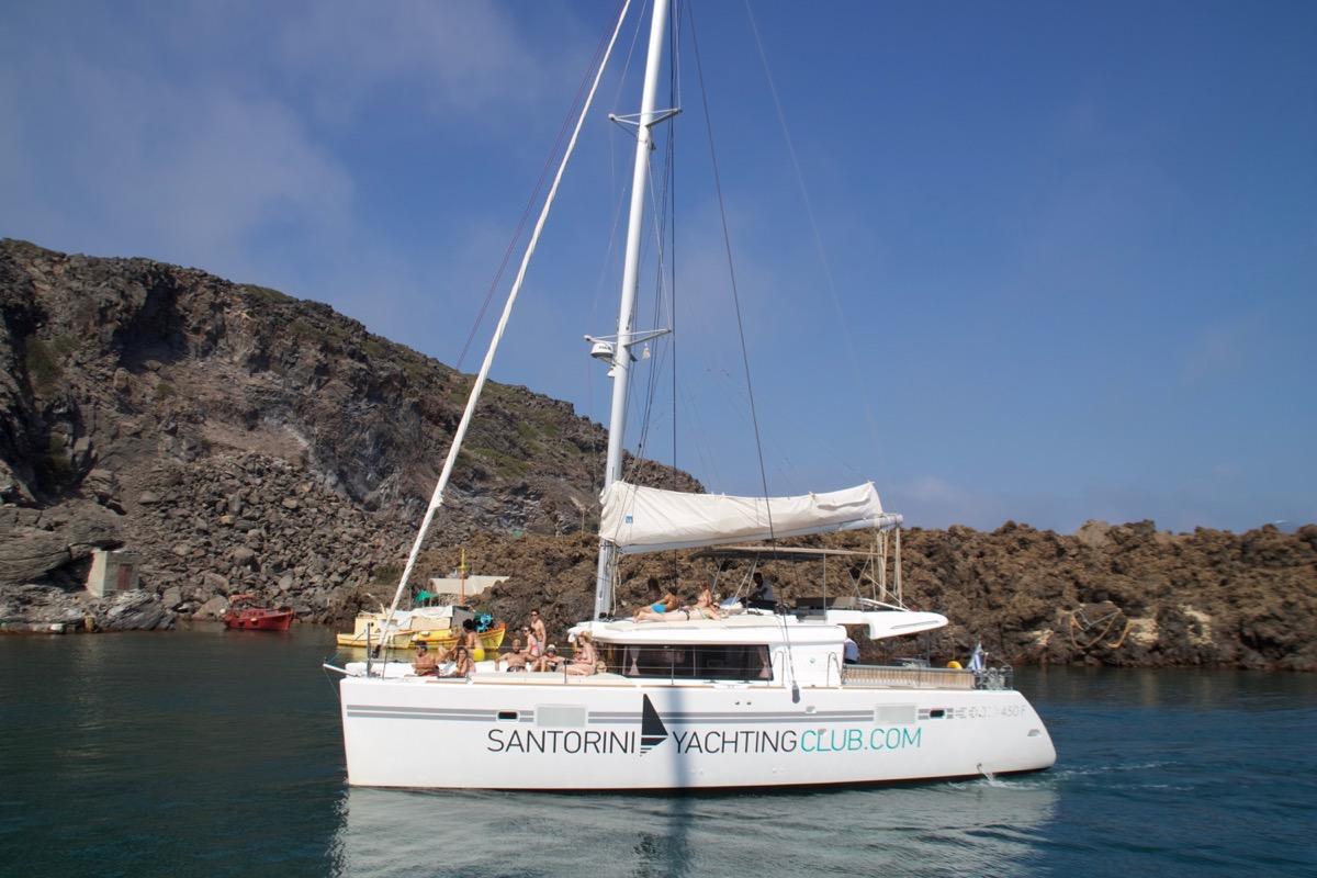 Santorini barco
