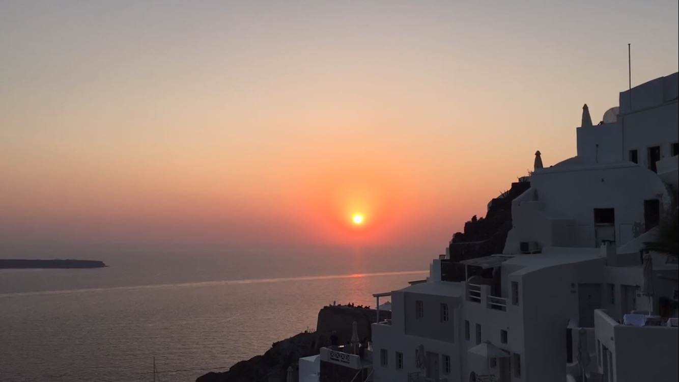 Santorini por do sol sunset