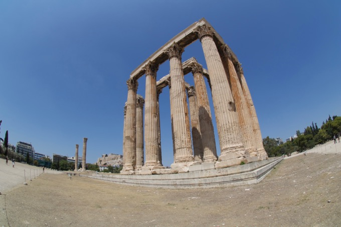 Atenas Grecia Acrópole Templo de Zeus