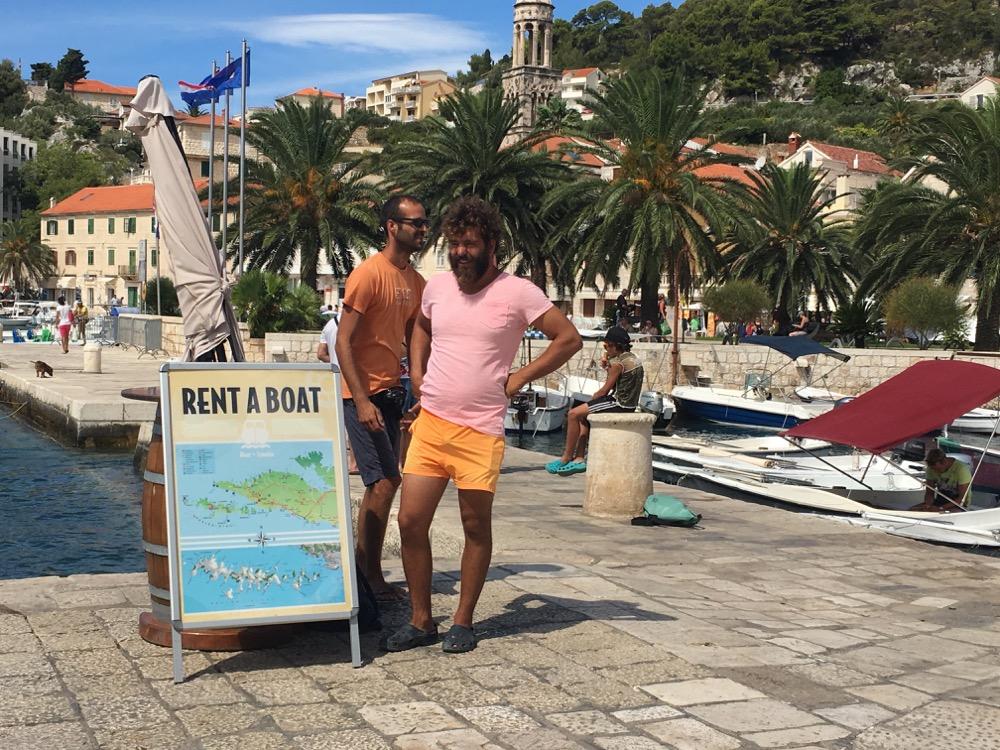 Hvar rent a boat