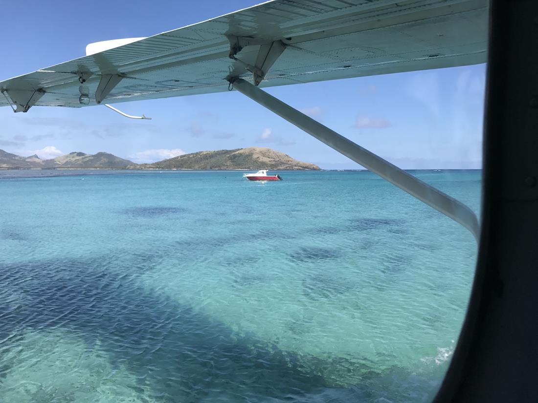 Hidroavião em Fiji