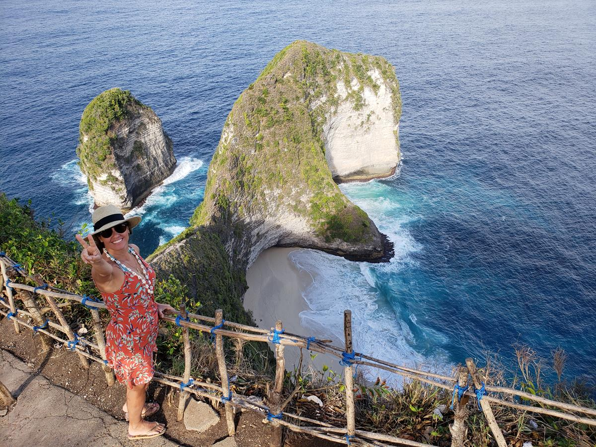 Kelingking beach em Nusa Penida