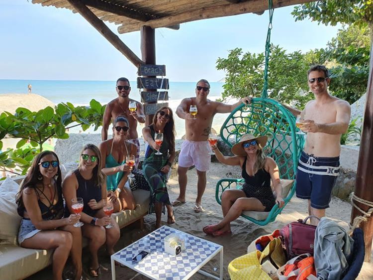 Beach club no Rio de Janeiro
