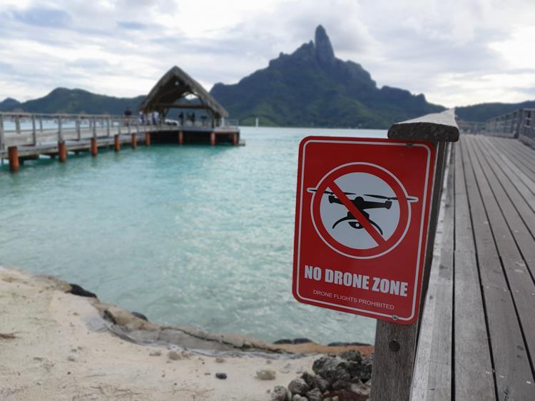 drones em Bora Bora