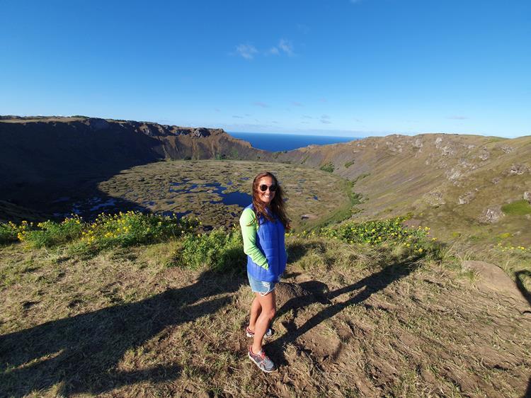 Cratera vulcão Ilha de Pascoa