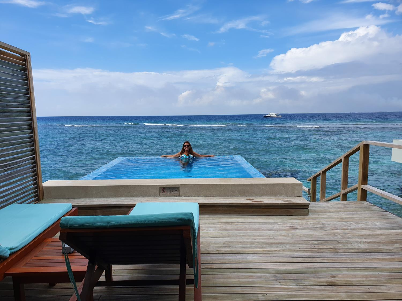 Piscininha amor Maldivas