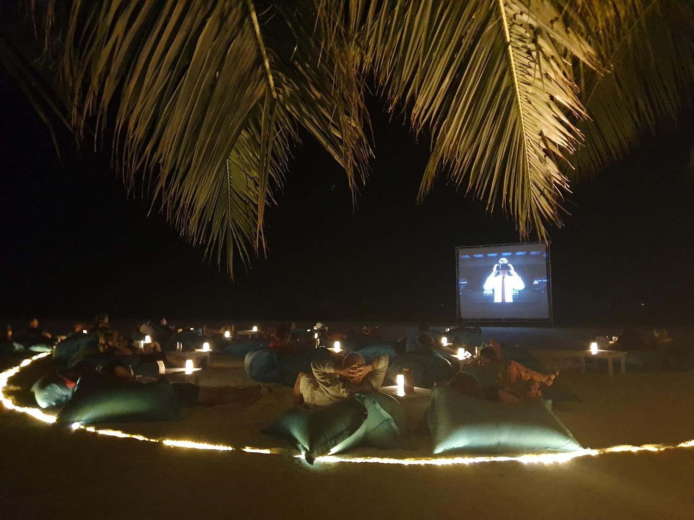 Cinema sob estrelas Maldivas