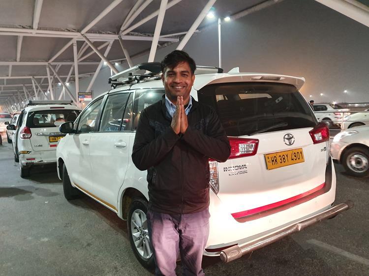 Motorista na Índia
