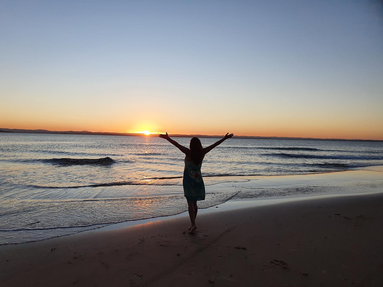 Por do sol na Ponta do Mutá